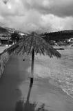 Playa de Sandy en el invierno Imagen de archivo libre de regalías