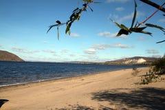 Playa de Sandy en el Samara, Rusia fotografía de archivo libre de regalías