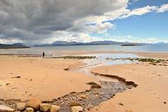 Playa de Sandy, Redpoint, Wester Imagen de archivo