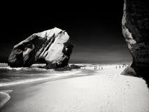 Playa de Santa Cruz en Portugal foto de archivo