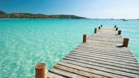 Playa de Santa Giulia, Córcega, Francia, Europa almacen de video