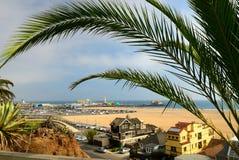 Playa de Santa Monica en Los Ángeles. EE.UU. Fotos de archivo libres de regalías