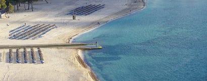 Playa de santa ponsa in mallorca stock image
