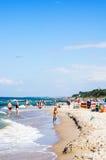 Playa de Sarbinowo Imágenes de archivo libres de regalías