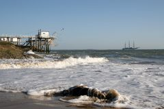 Playa de Sauvage del corral foto de archivo