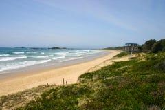Playa de Sawtell - Nuevo Gales del Sur Australia Imagen de archivo libre de regalías