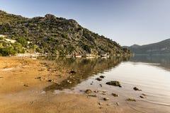Playa de Selimiye cerca de Marmaris Foto de archivo