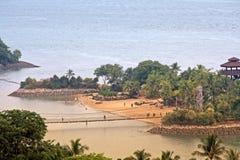 Playa de Sentosa Imágenes de archivo libres de regalías