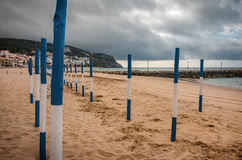 Playa de Sesimbra Foto de archivo libre de regalías