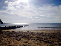 Playa de Shanklin Imagen de archivo libre de regalías