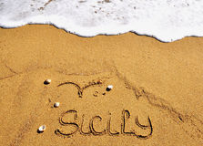 Playa de Sicilia, Italia Imagen de archivo