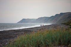 Playa de Silecroft, Cumbria Imágenes de archivo libres de regalías