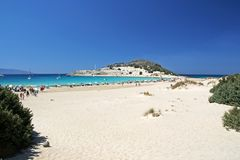 Playa de Simos Imagen de archivo libre de regalías