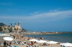 Playa 1 de Sitges Fotografía de archivo libre de regalías