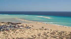Playa de Sotavento, Überblick Lizenzfreie Stockfotos