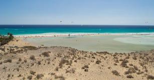Playa De Sotavento Arkivfoto