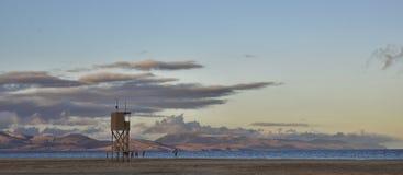 Playa de Sotavento an der Dämmerung Stockbilder