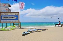Playa de Sotavento en Fuerteventura, España Foto de archivo libre de regalías