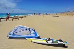 Playa de Sotavento en Fuerteventura, España Imágenes de archivo libres de regalías