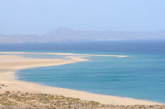 Playa de Sotavento, Fuerteventura Spagna Fotografia Stock Libera da Diritti