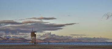 Playa de sotavento på skymningen Arkivbilder