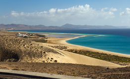 Playa de Sotavento. Risco de'l Paso at Playa de Sotavento, fuerteventura Royalty Free Stock Photography