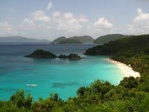 Playa de St John USVI el Caribe de la bahía del tronco Fotos de archivo libres de regalías