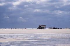 Playa de St. Peter-Ording foto de archivo libre de regalías
