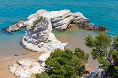 Playa de Summer Lido di Portonuovo, Italia fotos de archivo