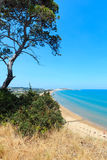 Playa de Summer Lido di Portonuovo, Italia imagen de archivo libre de regalías