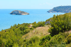 Playa de Summer Lido di Portonuovo, Italia imagenes de archivo