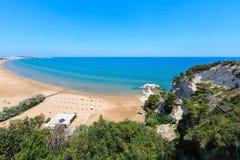 Playa de Summer Lido di Portonuovo, Italia foto de archivo libre de regalías