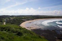 Playa de Summerland de la reserva del pingüino Foto de archivo