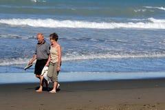 Playa de Sumner en Christchurch Nueva Zelanda Foto de archivo libre de regalías