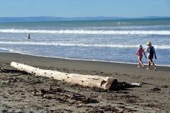 Playa de Sumner en Christchurch Nueva Zelanda Imagenes de archivo