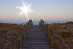 Playa de Sun y de Gaia en Portugal imagen de archivo
