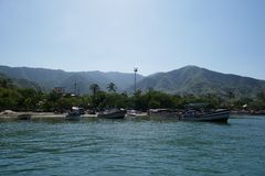 Playa de Taganga, Santa Marta foto de stock royalty free