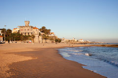 Playa de Tamariz en Estoril Imágenes de archivo libres de regalías