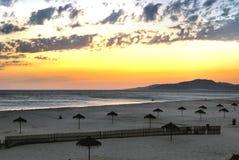 Playa de Tarifa - España Imágenes de archivo libres de regalías