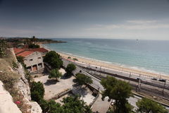 Playa de Tarragona Imagen de archivo
