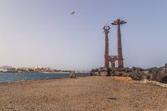 Playa de Teguise Imágenes de archivo libres de regalías