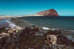 Playa de Tejita del La en la isla de Tenerife, España fotos de archivo