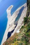 Playa de Tindari Imagen de archivo libre de regalías