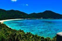 Playa de Tokashiki de la isla de Okinawa fotografía de archivo