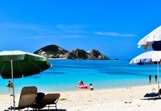 Playa de Tokashiki de la isla de Okinawa imagen de archivo