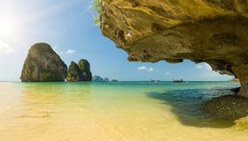 Playa de Ton Sai en Krabi Imagenes de archivo