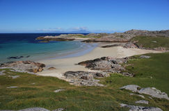 Playa de Torastan, isla de Coll imagen de archivo