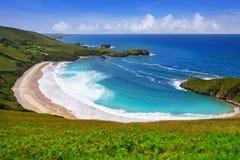 Playa de Torimbia en Asturias cerca de Llanes España foto de archivo libre de regalías