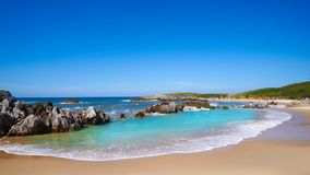 Playa de Toro beach in Llanes Asturias Spain. Playa de Toro beach in Llanes of Asturias Spain stock photos