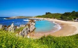 Playa de Playa de Toro en Llanes Asturias España fotografía de archivo libre de regalías
